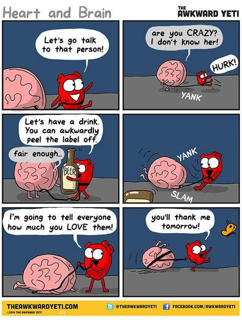 libro heart and brain an heart vs brain 12 comics that show the battle between