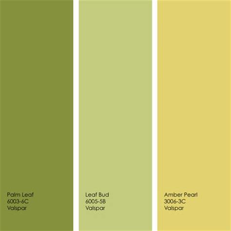 exle palette from left to right all from valspar palm leaf leaf bud and pearl