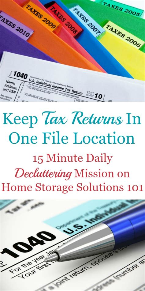 How To Keep Income Tax Records After How To Keep Tax Records Plus How To Organize Tax Returns In Your Home Filing System