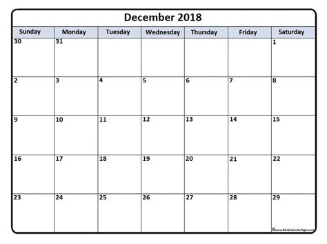 make a calendar december 2018 december 2018 calendar 51 templates of printable calendars
