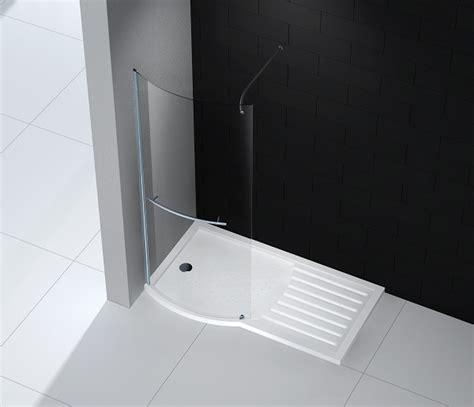 paroi fixe 100 cm paroi fixe arrondie de 100 cm pour de salle de bain