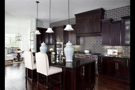 gray brick backsplash for the home home