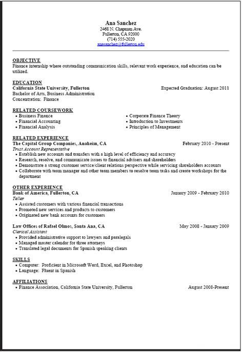 Sample Resume Format For Students – Sample Resume Format for Students   Sample Resumes
