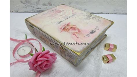 decoupage tutorial wood tutorial decoupage su legno scatola a libro in stile