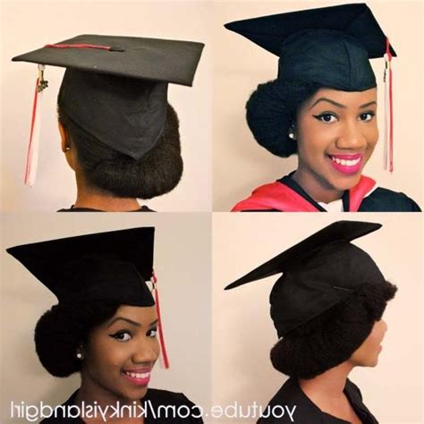 graduation hairstyles for medium hair with cap black hairstyles for graduation caps hairstyles by unixcode