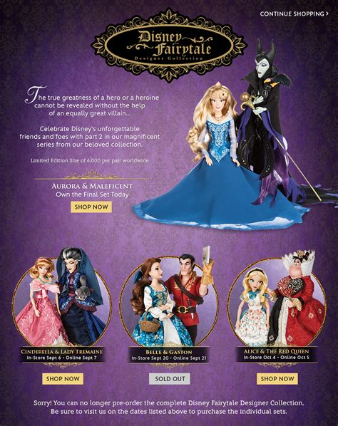 disney fairytale designer collection disney store