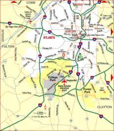 Map Of Atlanta by Road Map Of Atlanta Metropolitan Area Highways Atlanta