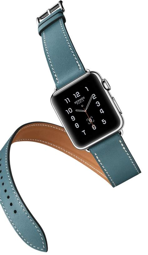 apple hermes smart 38mm tour in bleu jean leather band tradesy