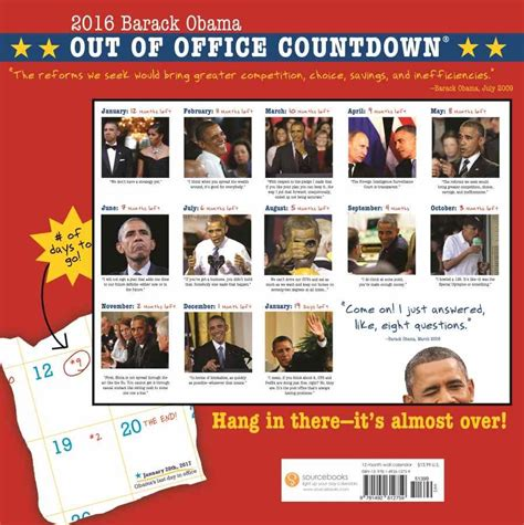 Obama Out Of Office by Obama Countdown Calendar Calendar Template 2016