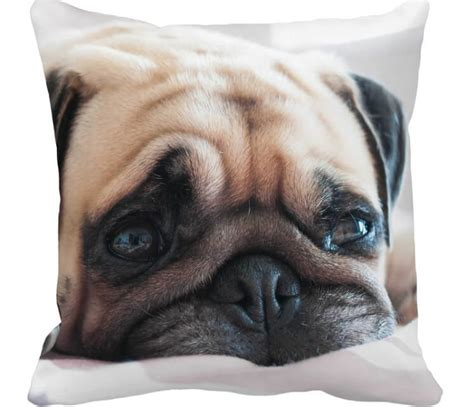 pug items adorable decorative pug print pillowcase lovely home decor for sofa bed