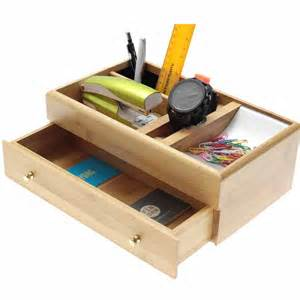Small Desk Drawer Tidy Bamboo Desk Top Tidy By Woodquail Eco Gifts