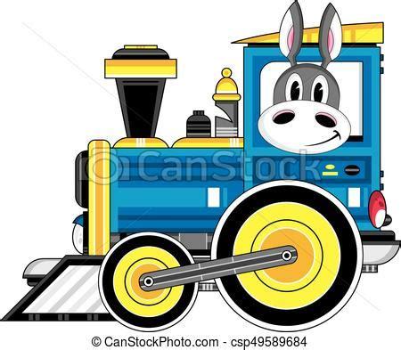 treno clipart asino treno cartone animato carino asino vettore