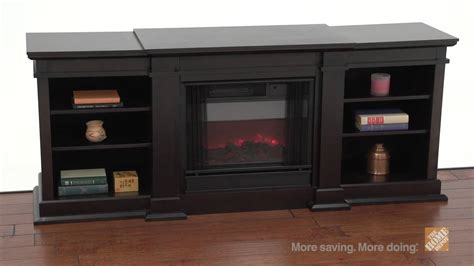 real fresno walnut electric fireplace and