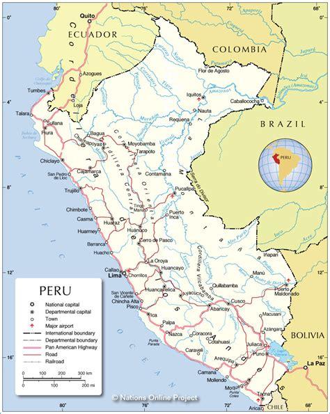 peru on the map peru kartenrand