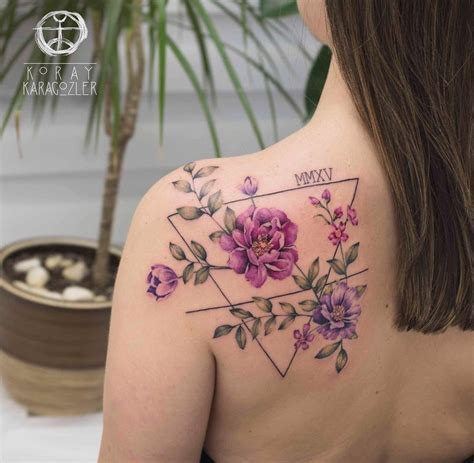 floral shoulder tattoo baby s birthday floral back best design ideas
