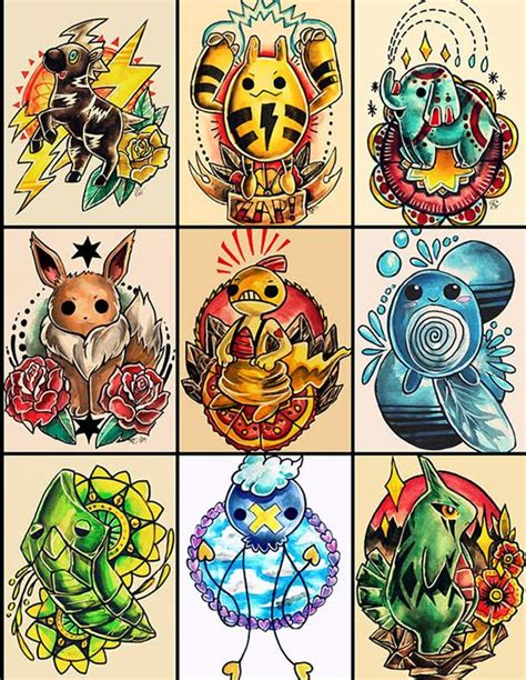 pokemon tattoo ideas designs on behance designs