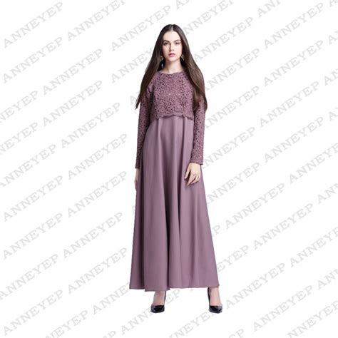 Dress Muslim Maxi Dress Wanita Annita Maxi quality new lace muslim dresses islamic prayer maxi dress casual abaya saudi arabic