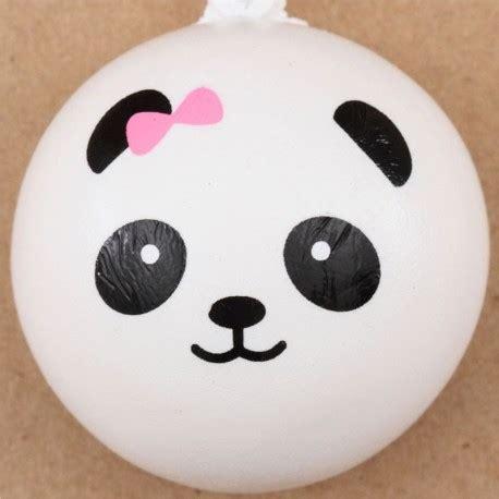 Panda Bun panda bun with pink bow squishy cellphone charm squishy shop