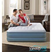 simmons beautyrest lumbar raised air bed mattress with built in