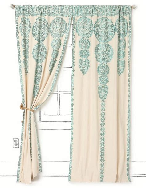 marrakech curtain anthropologie marrakech curtain tuquoise mediterranean curtains