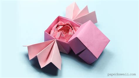 Lotus Flower Paper Folding - traditional origami lotus paper kawaii