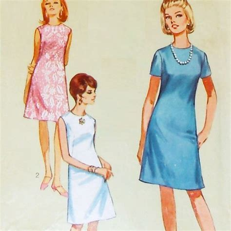 dress pattern in french a line shift dress french darts 1960s pattern simple