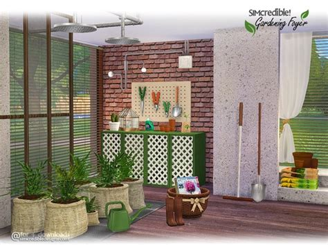 sims 4 foyer gardening foyer decor by simcredible at tsr 187 sims 4 updates
