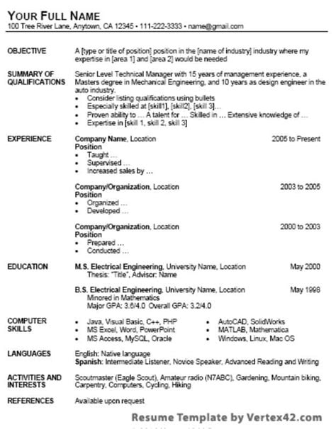 29 Google Docs Resume Template To Ace Your Next Interview Basic Resume Template Docs