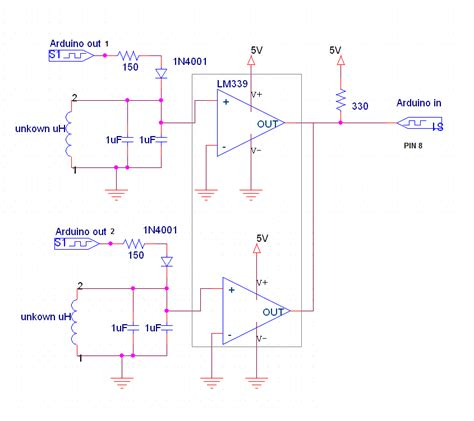 inductance measurement arduino 4 channel inductance meter with lm339 electrical engineering stack exchange