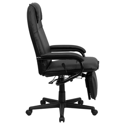 Reclining High Chair Reviews by High Back Leather Reclining Office Chair In Black Bt