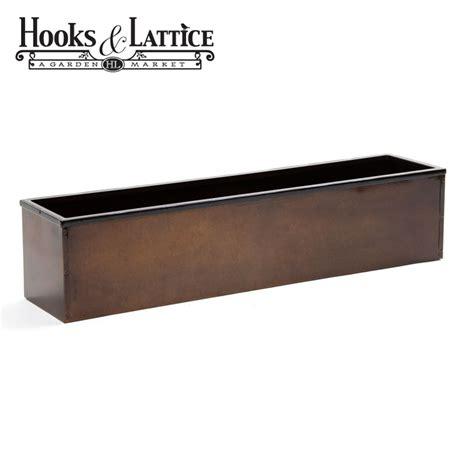 window box liners 48in metal window box liner bronze tone finish
