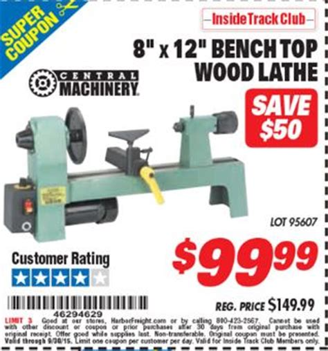 7 x 12 bench top lathe harbor freight tools coupon database free coupons 25 percent off coupons toolbox