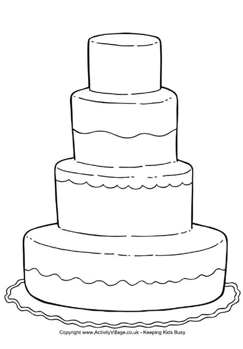 Wedding Cake Coloring Pages cake wedding maze coloring pages