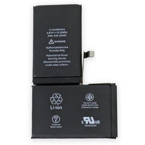 iphone 0 battery apple iphone x battery apn 616 00351 mobile parts