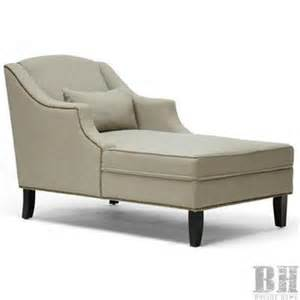 purser nailhead beige linen chaise lounges wholesale
