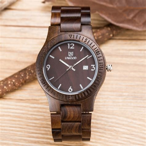 unique vogue wood dual time mens watches 2016