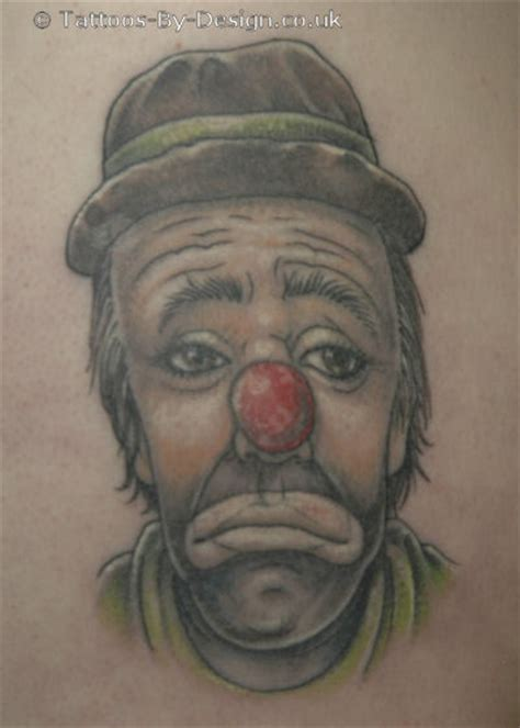 sad clown tattoo sad clown