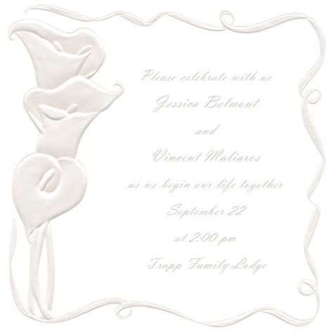 free blank wedding invitation templates blank wedding invitation templates