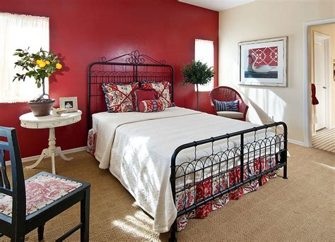 bedroom with red accent wall 23 bedrooms that bring home the romance of red