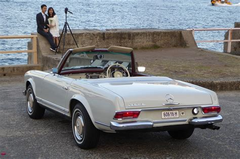vintage convertible 1968 mercedes 280sl pagoda w113 convertible roadster