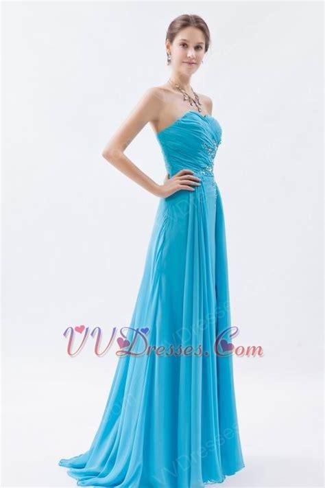 aqua color dress custom side drapped aqua evening dress in new york