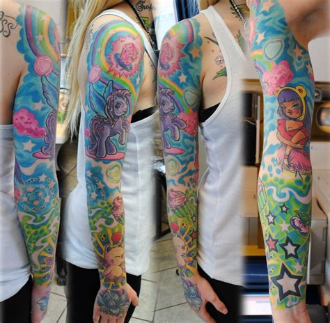 color sleeve tattoos sleeve in colors by gettattoo on deviantart