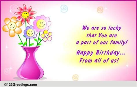 Family Happy Birthday Wishes For A Special Family Member Free Extended Family Ecards