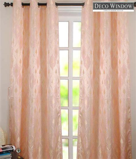 light peach curtains deco window light peach leaf print window curtain buy