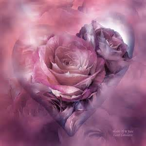 Mauve Shower Curtain Heart Of A Rose Mauve Purple Mixed Media By Carol Cavalaris