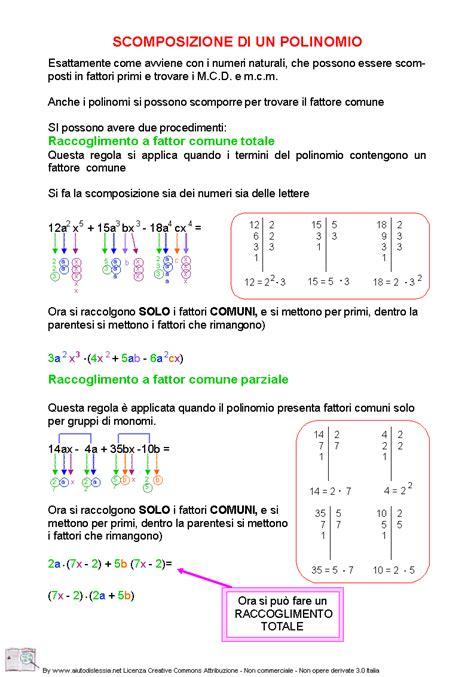 test scomposizione polinomi matematica viva la scuola