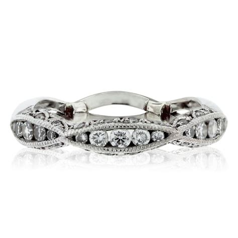 Wedding Bands South Florida by Tacori Classic Crescent 18kt White Gold Wedding Band