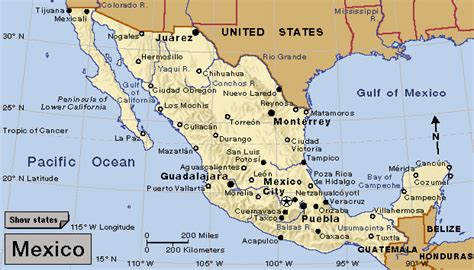 map of mexico showing cities taxco mexico map mexico map