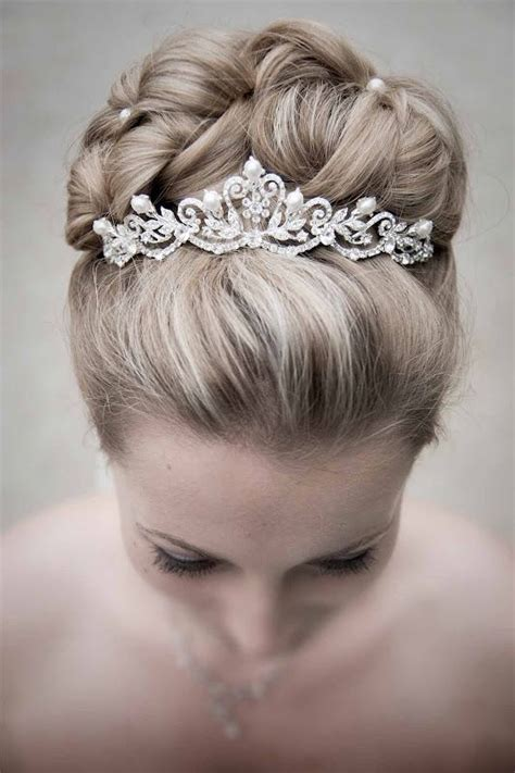 Braided Wedding Hairstyles With Tiara by Buns Tiaras And Up Dos On