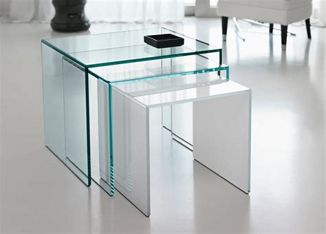 nest of glass coffee tables tonelli trio nest of glass coffee tables tonelli design